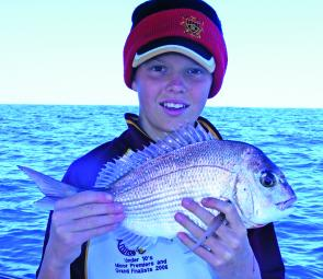 Snapper of this size are great fun for children getting used to an offshore charter.