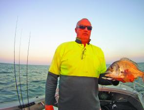 Casting deep running lures over the reefs around the islands can produce great bream such as this 36cm to the fork bream.