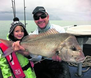 Even a four-year-old knows why we put the big ones back! Young Bodie and Reidy on one of the best days of their lives.