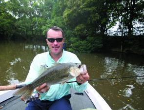 Bass are a great sportfish to chase in the upper reaches of the river this month.