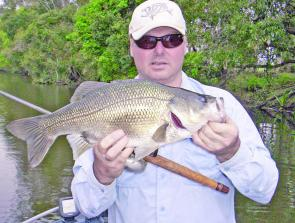 The author with the sort of bass the Clarence River is famous for. After a wet winter, it should be a good season.