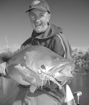 Shane Atze used a Bozo-rigged Bassman to tempt this cod.