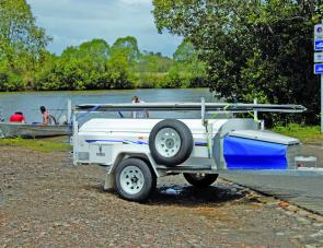 Small craft and fishing rod transportation is right up the camper trailer's alley. Most campers have sufficient width to allow a good-sized boat to be transported.