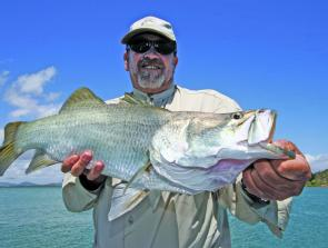 Arthur with an average Seaforth barra from a creek entrance.