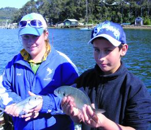 Connor Dewar and his older sister were in a hurry to drop the fish and catch more. Connor scored the day as a win for him but a countback result is still being disputed.