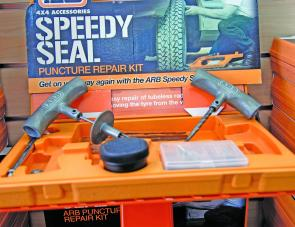 A Speedy Seal Kit ready for use.