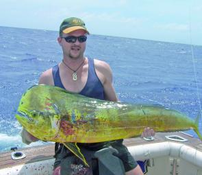 This mahi mahi, taken my Matt Wittering, is a rare catch for the Townsville area.