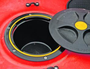 The two hatch buckets provided a safe place for keys and phones.