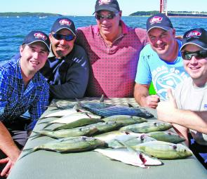 The boys from Dux Hot Water did well on trevally in Botany Bay.