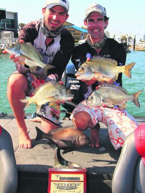 Dave McKenzie and Tristan Taylor from Team Samurai Reaction made it back-to-back wins at the Humminbird QLD BREAM Open.