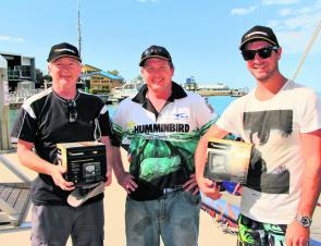 The Humminbird spoils didn't just go to the anglers with four sounders shared amongst fans at the weigh-in at the Power, Sail and Paddle Expo.
