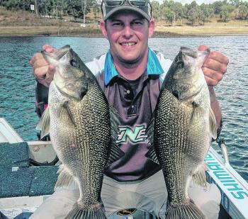 Big bass will school up over deep flats in Boondooma over winter.