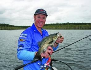 Smaller Isis bass can be targeted on the weed edge and drop-offs. They love Little Max blades.