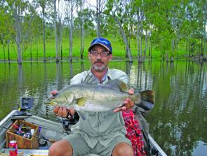This 74cm Monduran barra was fooled with a shallow diving jointed hardbody lure.