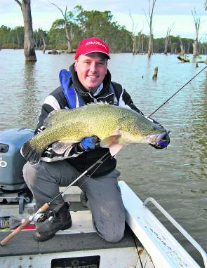 This 79cm Murray cod took a liking to a purple Custom Crafted Fish Stik for Marc Ainsworth on a recent trip to Mulwala.