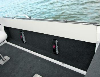 The Quinnie's optional rod locker would be a certainty on most buyers' lists, as they store and protect rods very well.