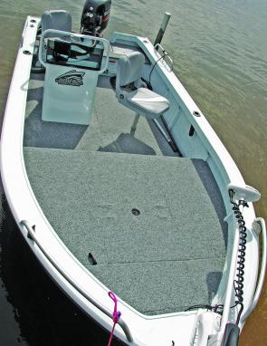 Plenty of room for plenty of lure fishing action. This rig is ready to go.