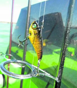 The 3.5g Samaki is the author's preferred blade lure for working deeper water for bream.