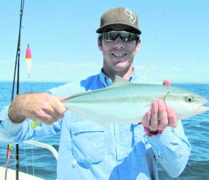 The author with a rat kingfish. These are in plague proportions on the Ballina FAD right now.