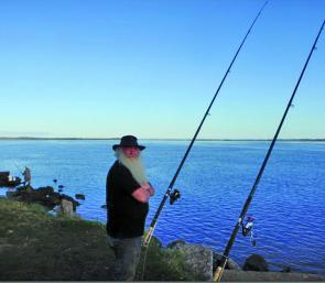 Mirboo North land-based angler Grant O'Neil who has fished Anderson Inlet for 40 years predicts a bright future for the area with the sea grass returning.