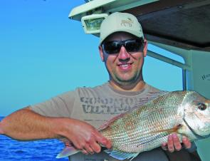 Sportsfishing for this size snapper is a great way to spend a spring day