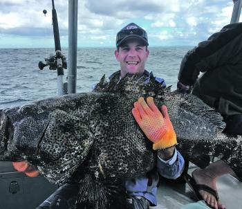 A huge blackspot cod landed on the Keely Rose on a recent trip.