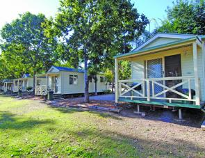 The Cabins are neat, tidy and comfortable and offer small groups of anglers or families an easy option when visiting Yallakool Park on BP Dam.