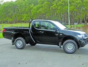 The Triton Crew Cab two-door ute's sleek lines are on a par with its on road manners.