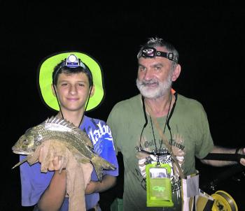 Night bream fishing requires some finesse. David Nevell's son John caught this impressive 40cm bream on 3kg mono.