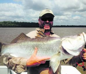 Tony Doggen caught this 110cm barra in the Mary River on his birthday. What a great way to celebrate.