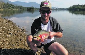 Shane Perna from Melbourne with his great start to the trout fishing season.
