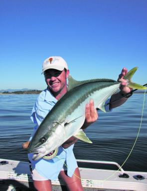 You soon learn what the term 'knuckle buster' means when you hook your first kingie on fly.