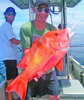 This red emperor was caught only 6 miles from the back of Magnetic Island.