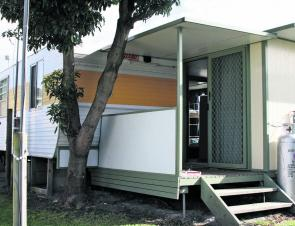Our onsite van with en suite was our home away from home.