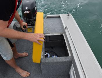The under seat storage is half foam-filled. The whole boat floats upright, with four on board, if full of water. If you ever need it, you'll be happy that it does.