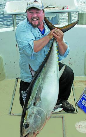The author got among the southern bluefin tuna when they were about. This 50kg fish was destined for the table.