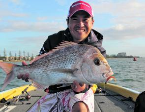The winter weather will bring good snapper.