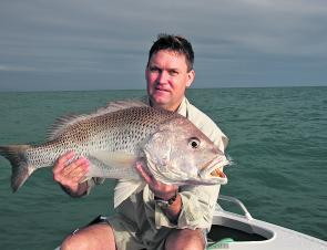 Golden snapper will bite hard on soft plastics during dusk and dawn hours, just be careful heading offshore in the dark.