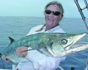 Elle Hodge with a Spanish caught on a skirt – skirted lures will usually prove successful.