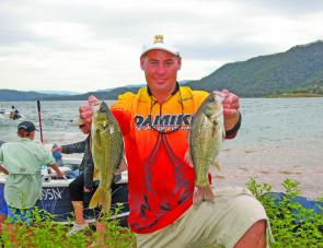 Champion boater Gregg Flett took out the top place by a mere 30g.