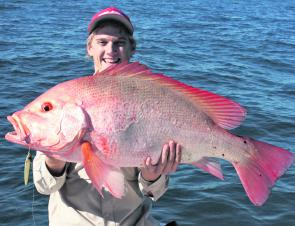 Nannygai are a prime winter species that can be targeted with jigs or fresh squid.