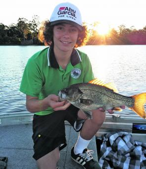 Jackson Doyle was whacking the Lake MacDonald bass last month. Blades and plastics should continue to pull fish this month as well.