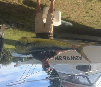 Dave Wells with a great mahimahi caught near the FAD.