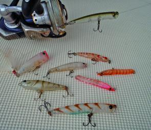 The author's whiting lure arsenal has been getting a good run in the southern creeks.