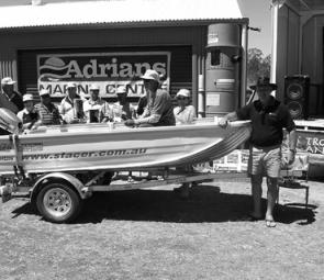The ten finalists in the boat draw waited nervously. Adrian's Marine supplied the lucky draw prize which was a highlight for entrants who weren't lucky enough to catch a fish.