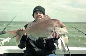 Joe with his sensational Joe's Island snapper.