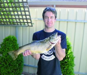A 3kg brown trout the author recently caught at Lake Fyans.