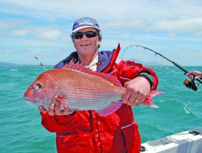 Paul Mannix with a typical Flinders snapper.
