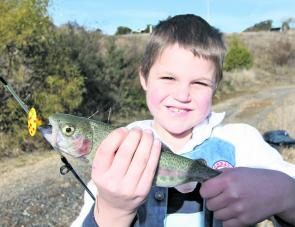Seven year old Darby Lane managed to catch this trout all by himself in Stanley Ditch Dam on a Panther Martin bladed spinner recently. Fishing in these family friendly waterways with such wonderful kids brings me immense amounts of satisfaction.
