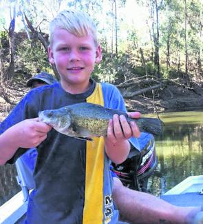 Mason Reeves with a yellowbelly caught on bait in the Goulburn River.